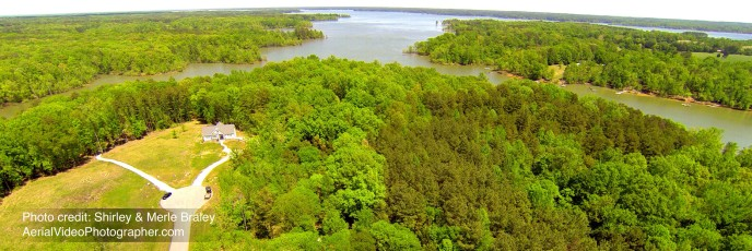 Aerial View of Kerr Lake